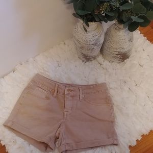 Like New Mossimo Blush Denim Mid Rise Midi shorts